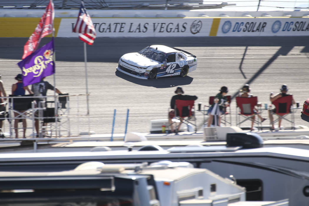 the DC Solar 300 NASCAR Xfinity Series race at the Las Vegas Motor Speedway on Saturday, Sept. 15, 2018. Richard Brian Las Vegas Review-Journal @vegasphotograph