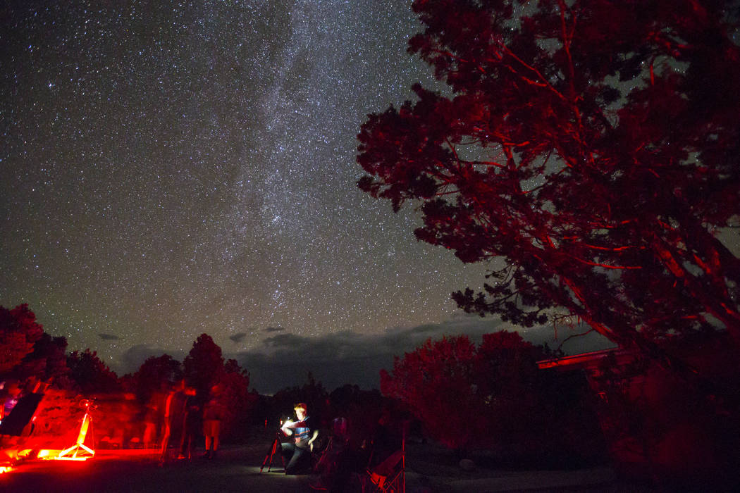 The Milky Way galaxy shines above Great Basin National Park during the final day of the annual astronomy festival on Saturday, Sept. 8, 2018. Chase Stevens Las Vegas Review-Journal @csstevensphoto