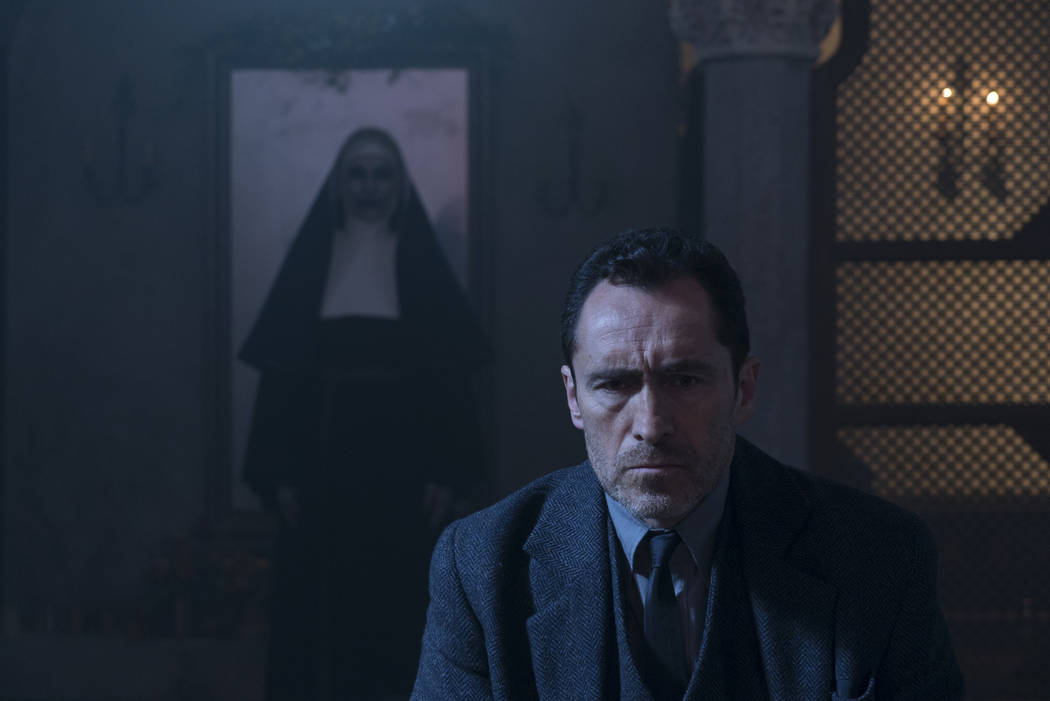 "Demian Bichir stars in a scene from ""The Nun."" (Cos Aelenei/Warner Bros. Pictures via AP)"