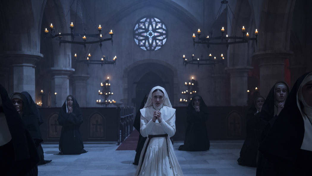 """Sandra Teles stars in a scene from """"The Nun."""" (Martin Maguire/Warner Bros. Pictures via AP)"""