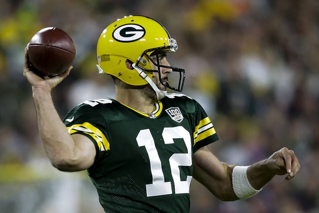 Green Bay Packers Aaron Rodgers Throws During The Second Half Of An NFL Football Game
