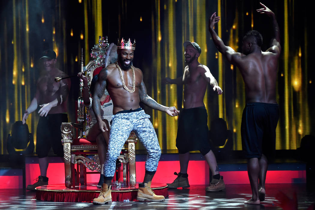 Actor/model Tyson Beckford performs as a celebrity guest host in residency with the Chippendales at the Rio Hotel & Casino on April 7, 2017, in Las Vegas. (David Becker/WireImage)