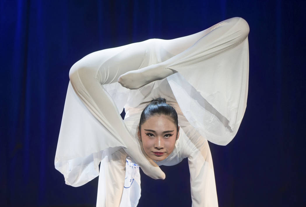 Chinese contortionist Wei Wei performs during the International Congress of Contortionists on Wednesday, Sept. 5, 2018, at Sunset Station, in Las Vegas. Benjamin Hager Las Vegas Review-Journal @be ...
