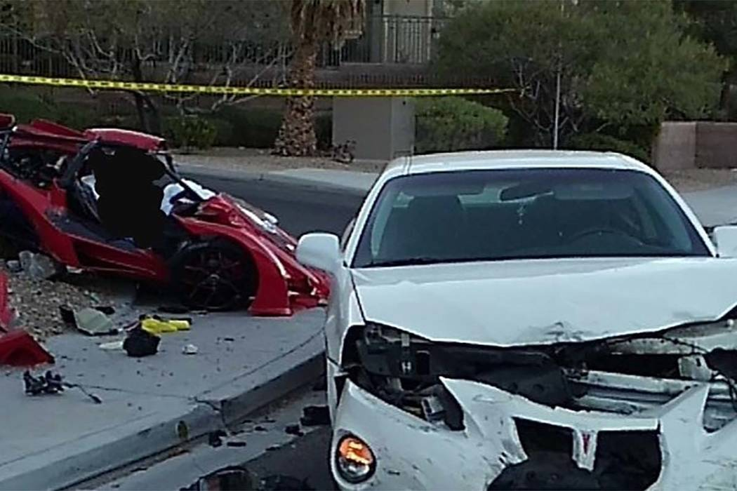 A 31-year-old driver of a three-wheeled vehicle was killed Sunday in a crash on Grand Canyon Drive north of Gilcrease Avenue. (LVMPD)