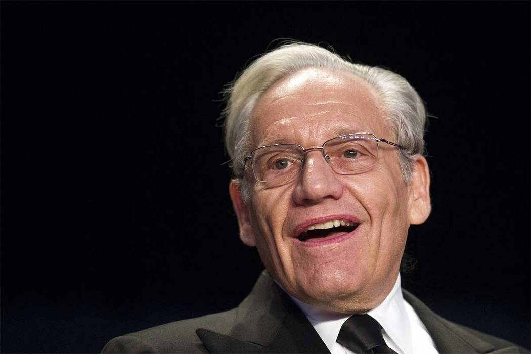 Journalist Bob Woodward sits at the head table during the White House Correspondents' Dinner in Washington, Saturday, April 29, 2017. (Cliff Owen/AP)