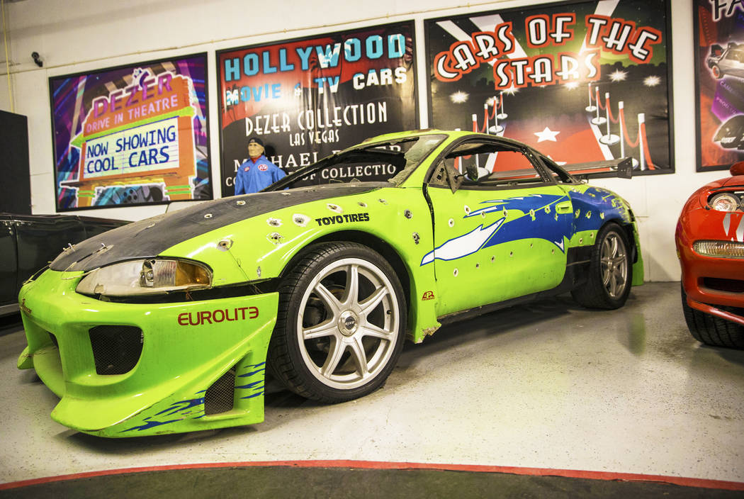 The 1996 Mitsubishi Eclipse featured in the first of the Fast and the Furious movie series at the Hollywood Cars Museum on Tuesday, April, 4, 2017, at Hot Rod City, in Las Vegas. (Benjamin Hager/L ...