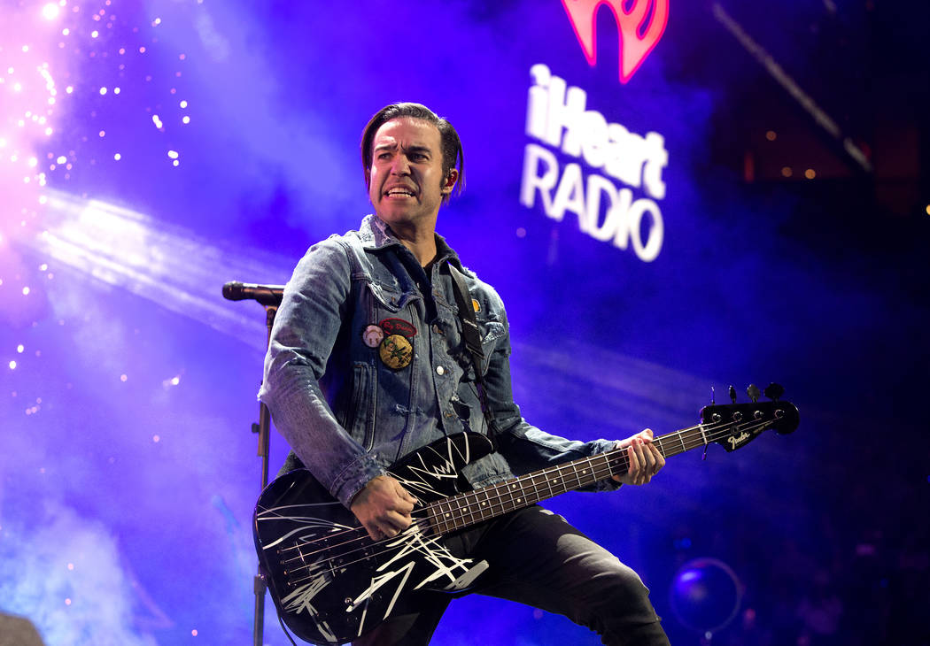 Pete Wentz of the band Fall Out Boy performs in concert during Q102's iHeartRadio Jingle Ball 2017 at the Wells Fargo Center on Wednesday, Dec. 6, 2017, in Philadelphia. (Photo by Owen Sweeney/Inv ...