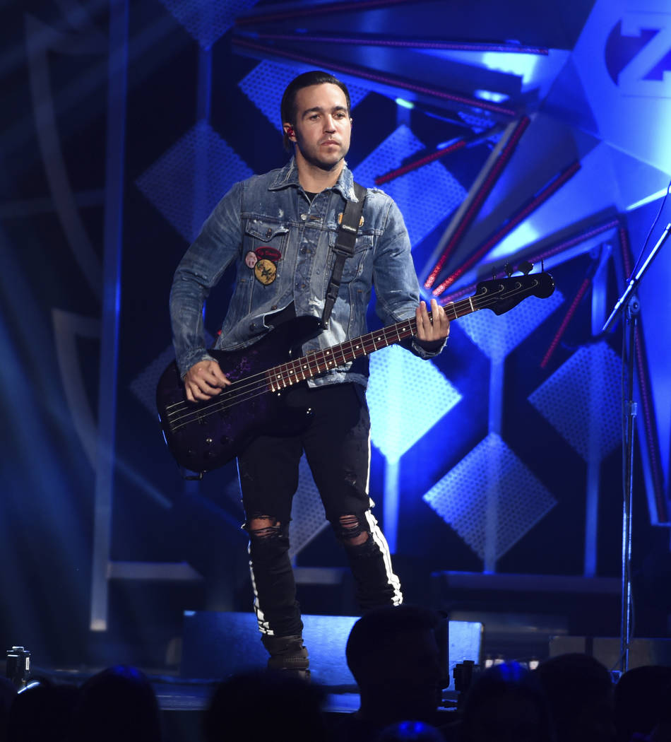 Musician Pete Wentz of Fall Out Boy performs at Z100's iHeartRadio Jingle Ball at Madison Square Garden on Friday, Dec. 8, 2017, in New York. (Photo by Evan Agostini/Invision/AP)
