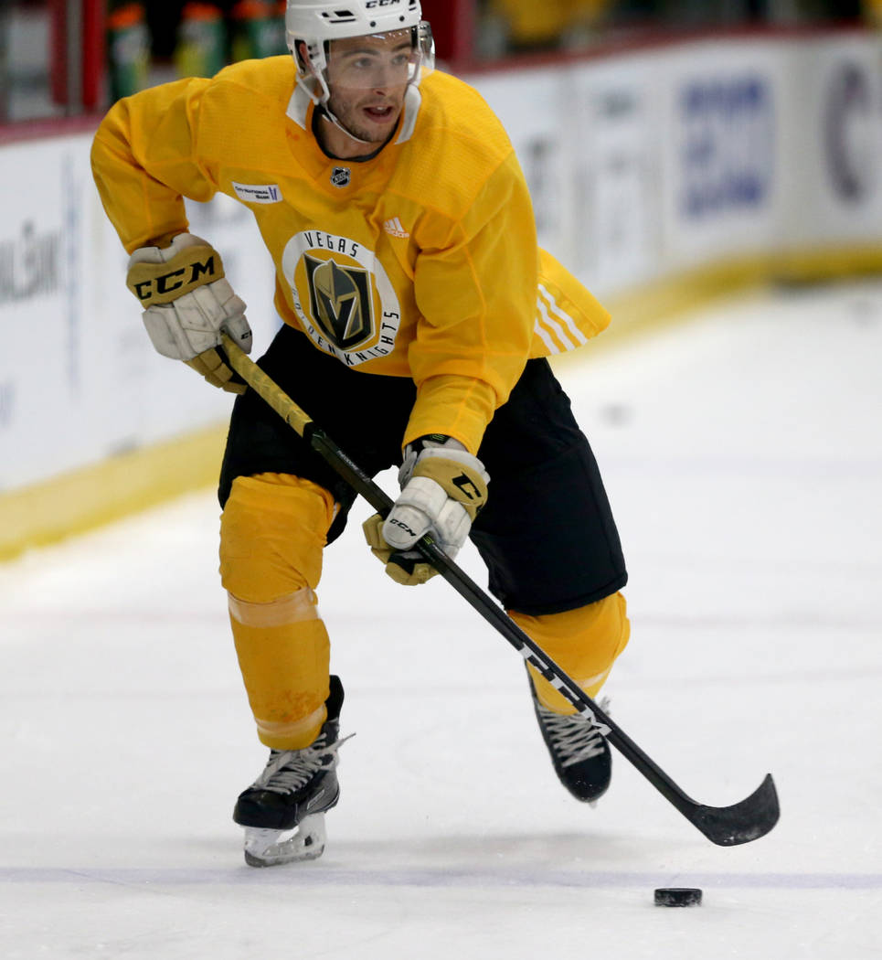 Vegas Golden Knights forward Gage Quinney (72) during practice at City National Arena Monday, Sept. 10, 2018. K.M. Cannon Las Vegas Review-Journal @KMCannonPhoto