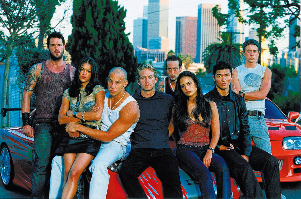 "The cast of ""The Fast and the Furious."" (Universal Studios)"