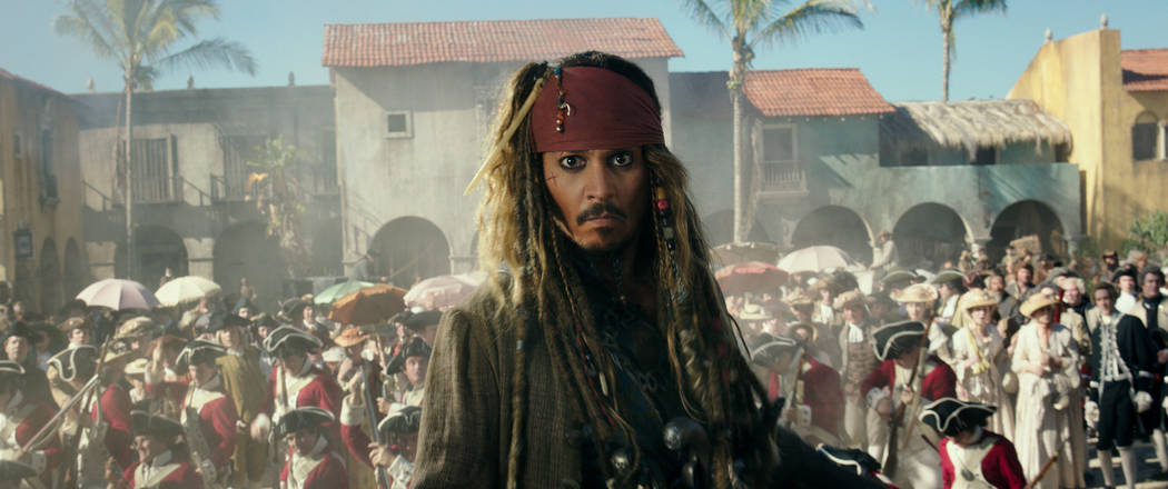 """PIRATES OF THE CARIBBEAN: DEAD MEN TELL NO TALES""..The villainous Captain Salazar (Javier Bardem) pursues Jack Sparrow (Johnny Depp) as he searches for the trident used by Poseidon..Ph: Film Fram ..."