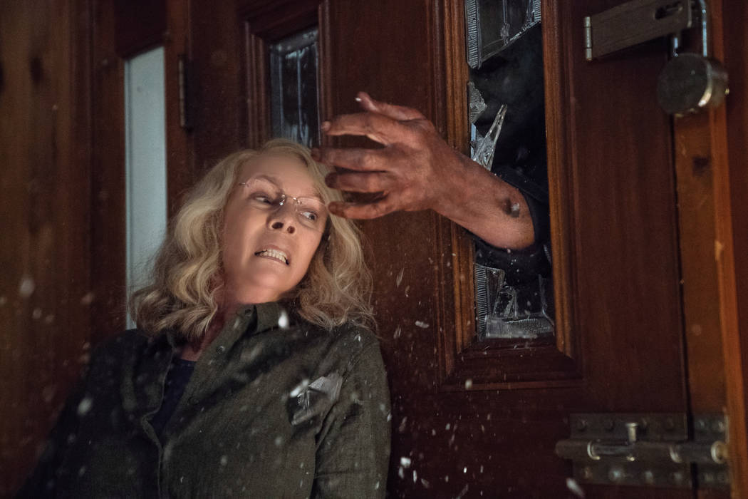 "In ""Halloween,"" JAMIE LEE CURTIS returns to her iconic role as Laurie Strode, who comes to her final confrontation with Michael Myers, the masked figure who has haunted her since she nar ..."