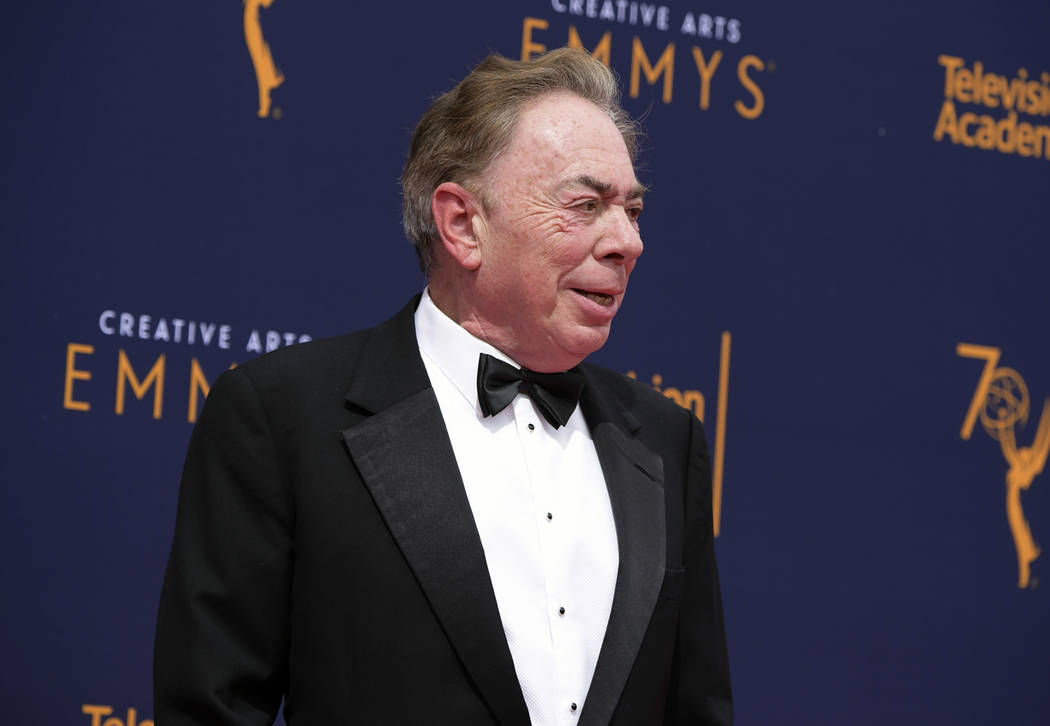 Andrew Lloyd Webber arrives at night two of the Creative Arts Emmy Awards at The Microsoft Theater on Sunday, Sept. 9, 2018, in Los Angeles. (Photo by Richard Shotwell/Invision/AP)