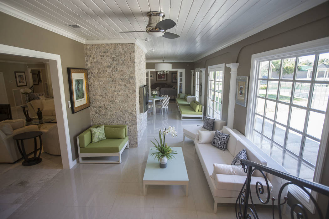 The recently renovated home of the late casino heir Ted Binion on Monday, Sept. 10, 2018, in Las Vegas. Benjamin Hager Las Vegas Review-Journal @benjaminhphoto
