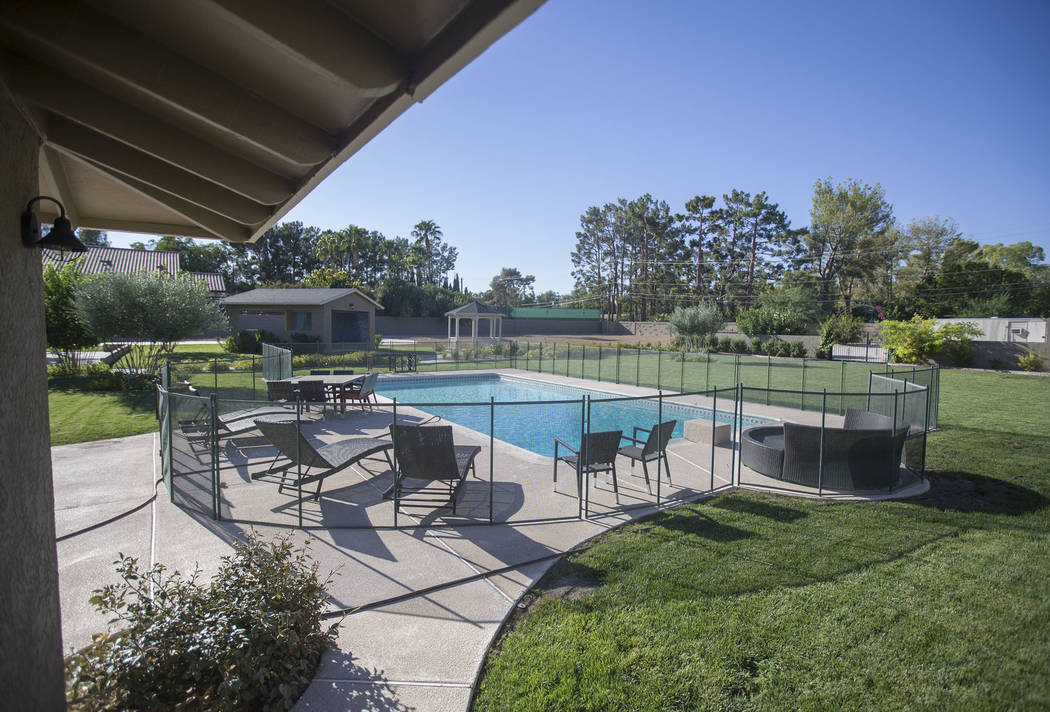 The 1.4-acre lot included with the home of the late casino heir Ted Binion on Monday, Sept. 10, 2018, in Las Vegas. Benjamin Hager Las Vegas Review-Journal @benjaminhphoto