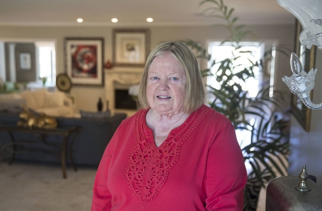 Jane Popple in the former home of casino heir Ted Binion on Monday, Sept. 10, 2018. Popple recently bought the Las Vegas home, where Binion died on Sept. 17, 2018. Benjamin Hager Las Vegas Review- ...