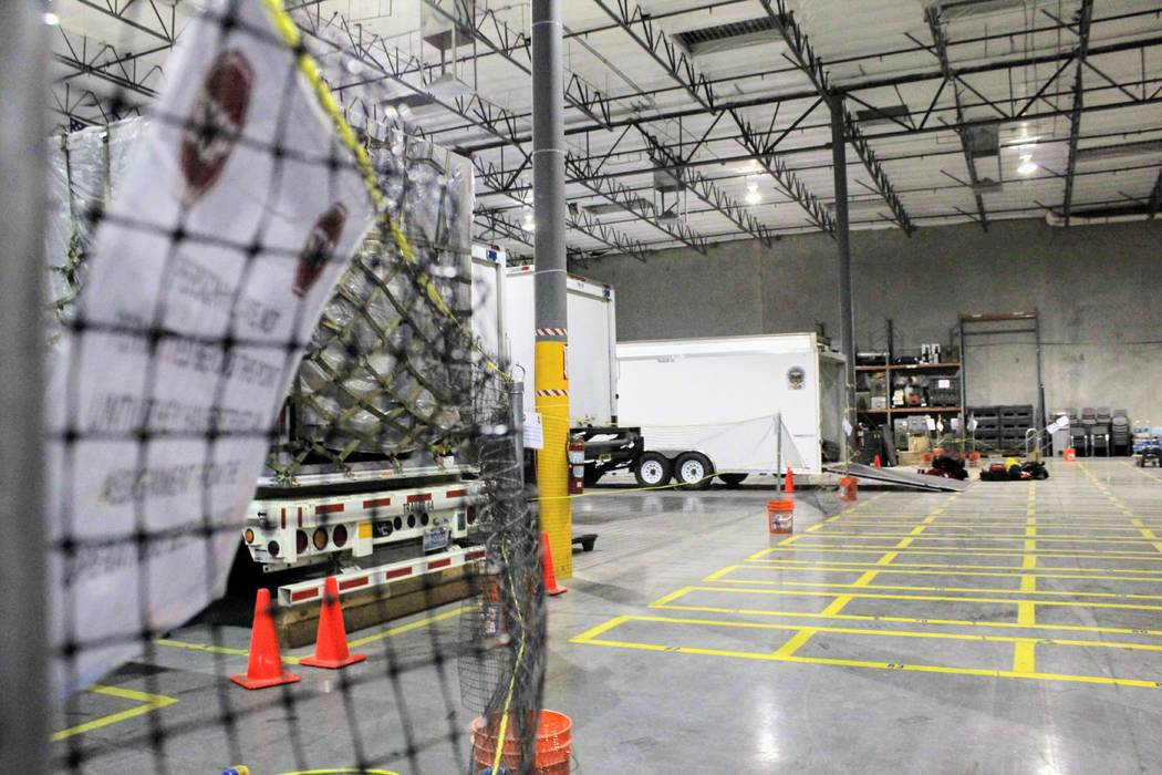 Nevada Task Force One dispatched a team of 16 water specialists with four trucks and trailers loaded with boats, medical supplies, rope equipment and a 4-wheel terrain vehicle to assist first resp ...