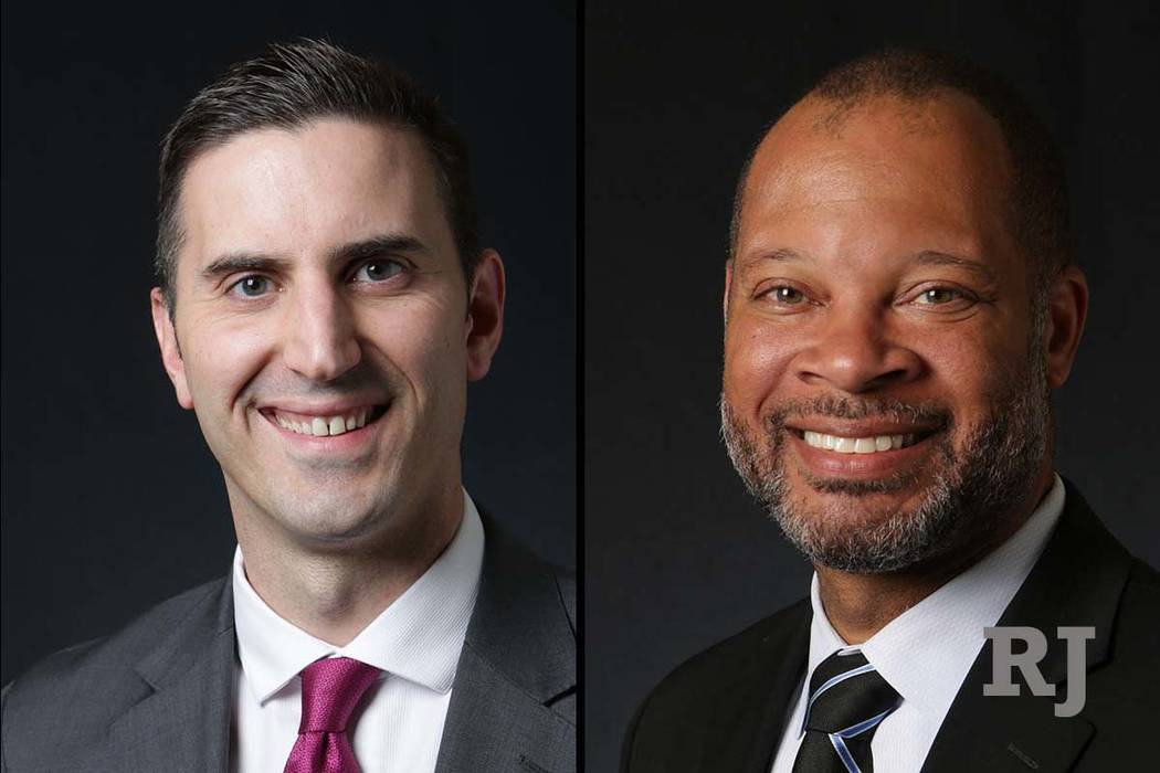 Nevada attorneygeneral candidates Wes Duncan, Republican, left, and Aaron Ford, Democrat (Las Vegas Review-Journal)
