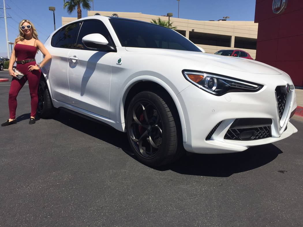 Alabama native Ashley Henderson purchased a 2018 Stelvio Quadrifoglio sport utility vehicle from Findlay Fiat in the Valley Automall. (Findlay)