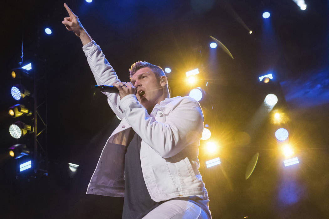 Backstreet Boys member Nick Carter performs at KTUphoria 2018 in Wantagh, N.Y. on June 16, 2018. (Charles Sykes/Invision/AP, File)