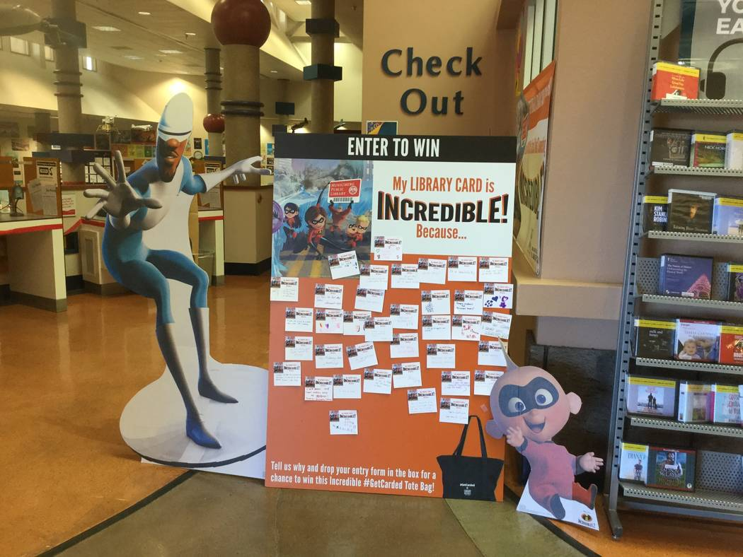 "As part of the American Library Association's national Library Card Sign-up Month, The Clark County Library District teamed up with Disney Pixar's ""The Incredibles"" to promote the campaign. As par ..."