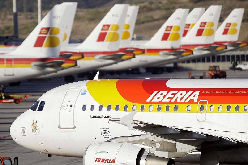In this Nov. 12, 2009 file photo, Iberia planes are seen parked-up at Barajas airport in Madrid. (AP file)