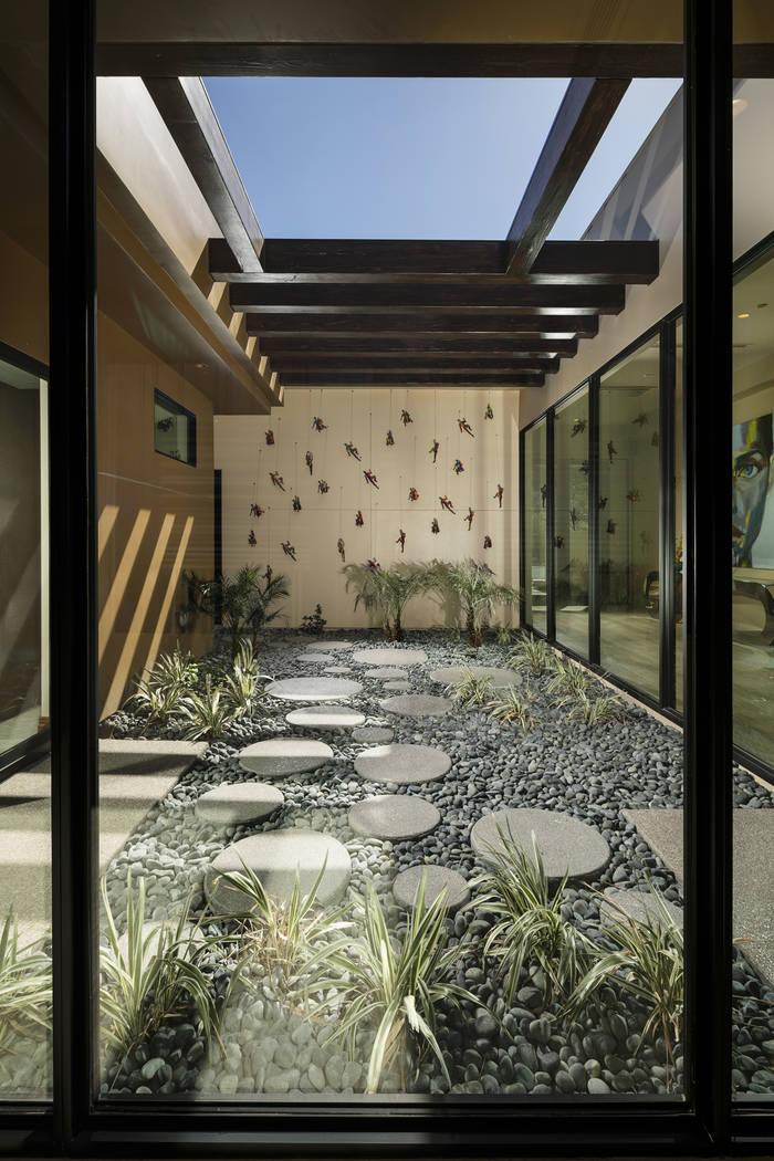 An outdoor courtyard. (Shay Velich)