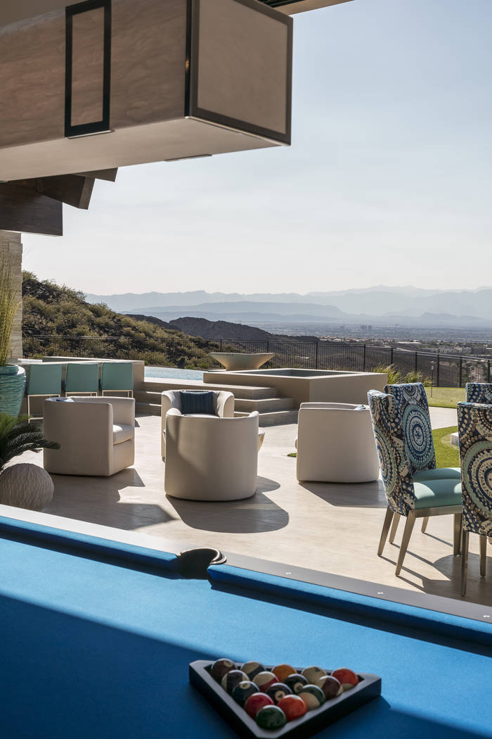 The backyard patio. (Sun West Custom Homes)