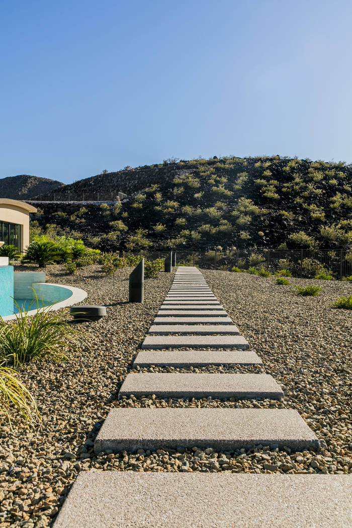 The home sits on two acres in the luxury residential community of Ascaya in Henderson. (Sun West Custom Homes)