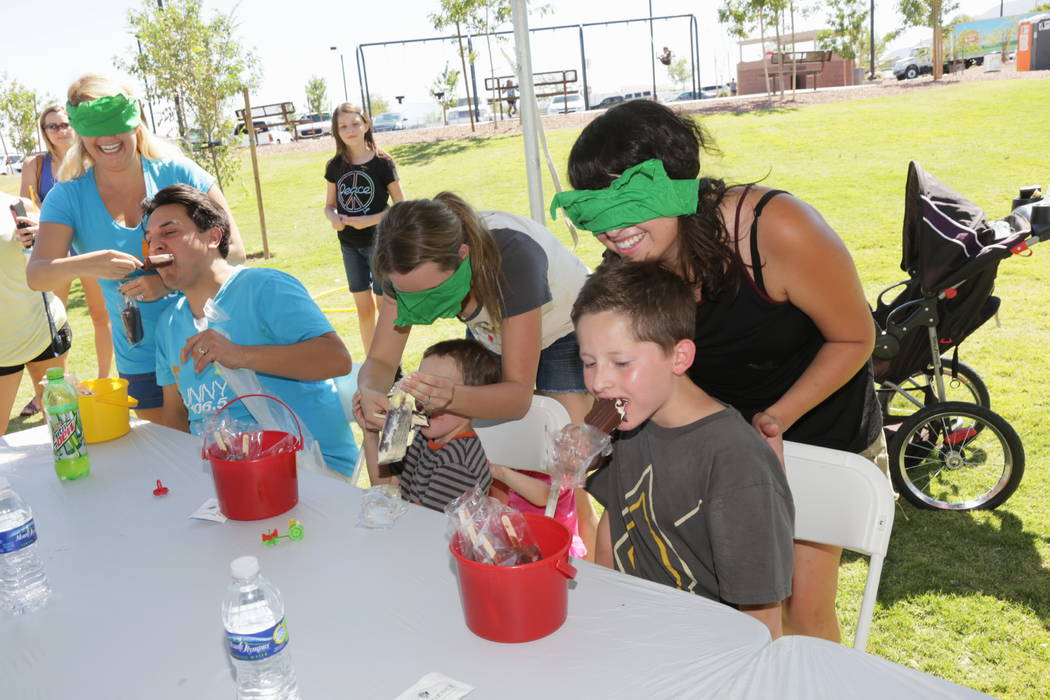 Participants will test their ice cream-eating skills at the Sunny 106.5 Ice Cream Sunday free event Sept. 15 at Providence's Huckleberry Park. (Providence)