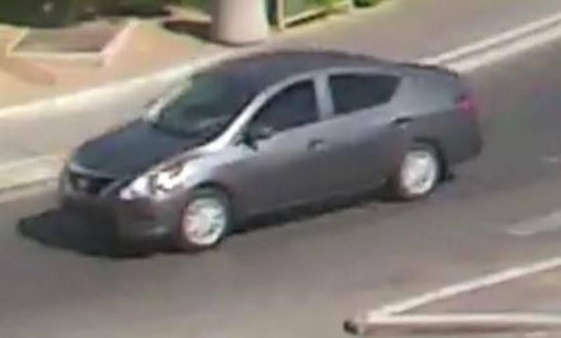 Car of Excalibur robbery suspect (Las Vegas Metropolitan Police Department)