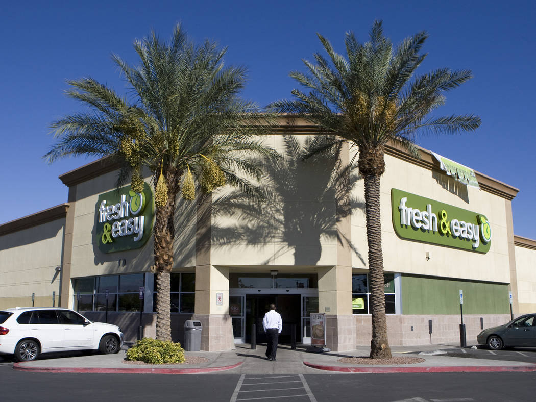 A customer walks into the Fresh & Easy store at 10 N. Eastern Avenue on Monday, Oct. 11, 2010, in Las Vegas, Nevada. The Fresh & Easy grocery store chain is closing six stores in Las Vegas due to ...