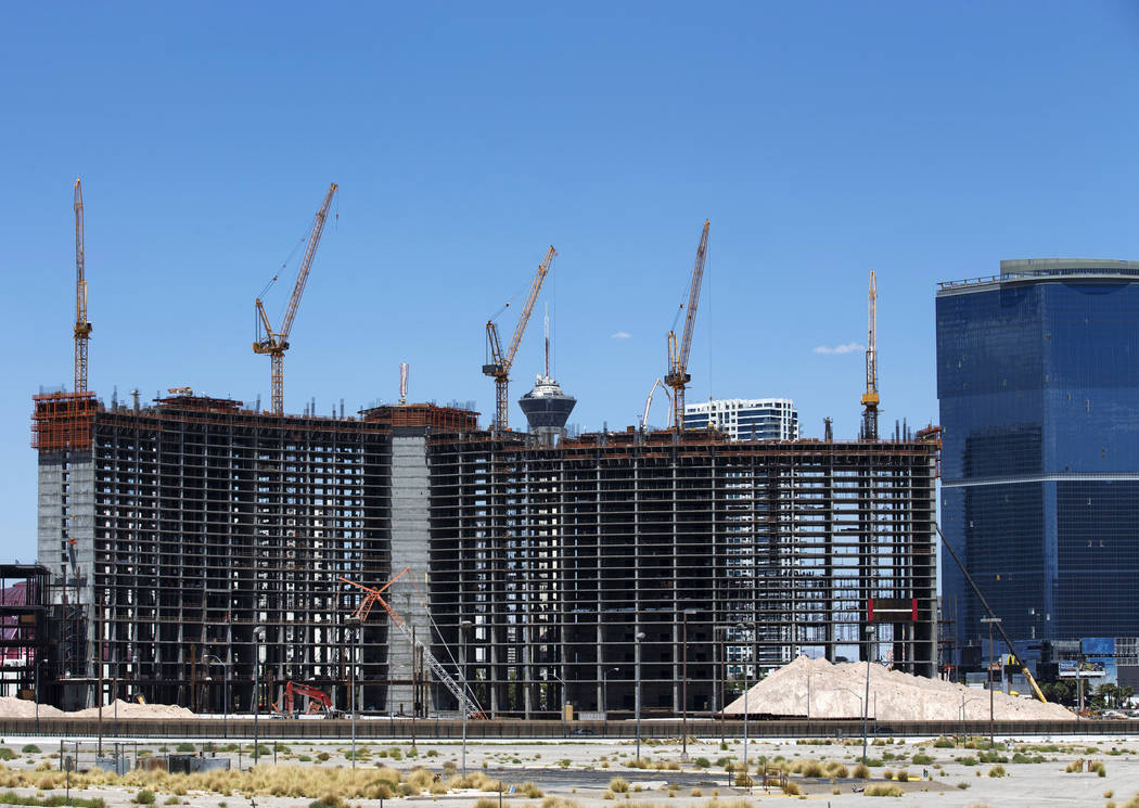 Construction continues at Resorts World Las Vegas on Monday, July 23, 2018. Richard Brian Las Vegas Review-Journal @vegasphotograph