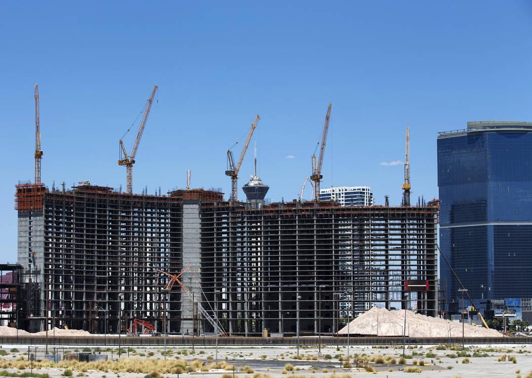 Construction continues at Resorts World Las Vegas on Monday, July 23, 2018. Richard Brian Las Vegas Review-Journal @vegasphotograph