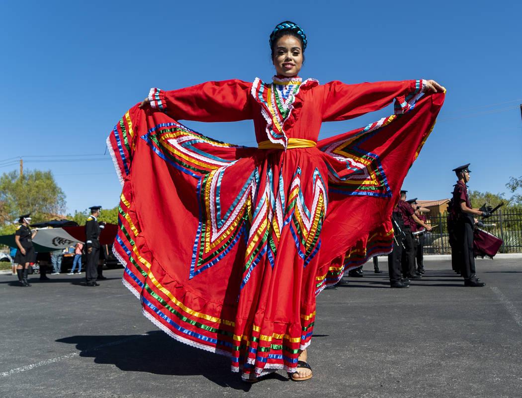 Izzy Saldivar celebrates Hispanic Heritage at the El Tiempo Fiesta Las Vegas at Craig Ranch Regional Park in North Las Vegas, Saturday, Sept. 15, 2018.(Marcus Villagran/Las Vegas Review-Journal) @ ...