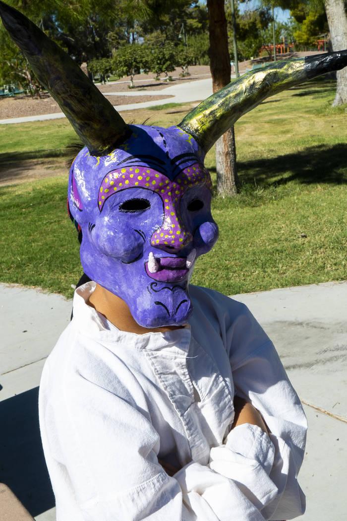 Elicio Aragon, 10, poses for a photograph at the El Tiempo Fiesta Las Vegas at Craig Ranch Regional Park in North Las Vegas, Saturday, Sept. 15, 2018.(Marcus Villagran/Las Vegas Review-Journal) @m ...