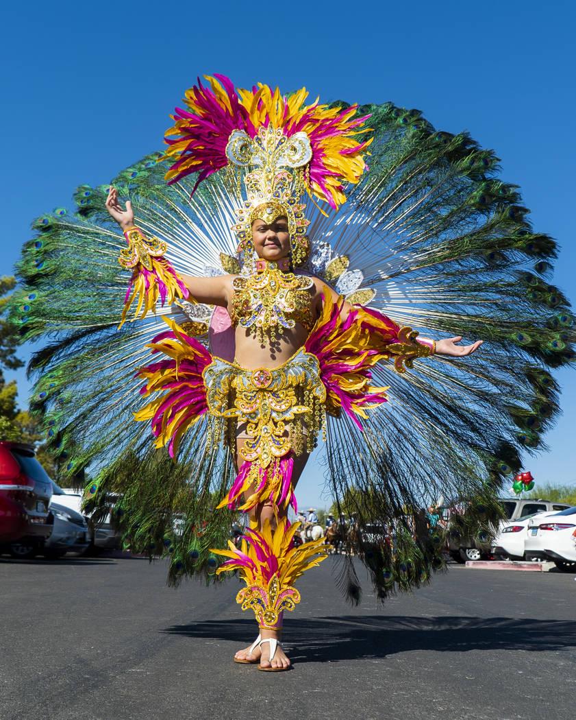 Ashley Galvez, 11, poses for a photograph at the El Tiempo Fiesta Las Vegas at Craig Ranch Regional Park in North Las Vegas, Saturday, Sept. 15, 2018.(Marcus Villagran/Las Vegas Review-Journal) @m ...