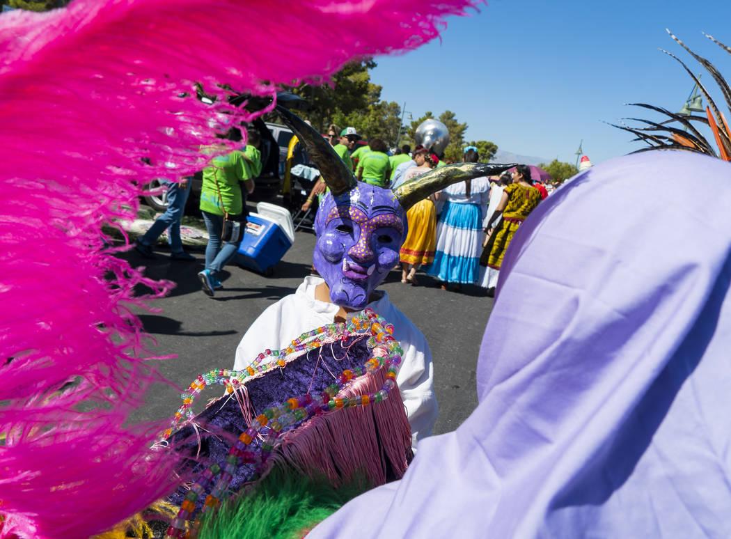Elicio Aragon, 10, waits to participate in the El Tiempo Fiesta Las Vegas parade at Craig Ranch Regional Park in North Las Vegas, Saturday, Sept. 15, 2018.(Marcus Villagran/Las Vegas Review-Journa ...