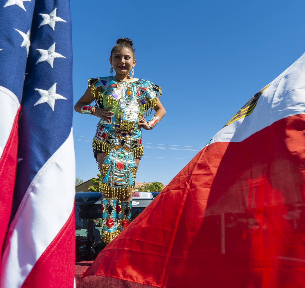 Arianna Rodriguez, 10, poses for a photograph at the El Tiempo Fiesta Las Vegas at Craig Ranch Regional Park in North Las Vegas, Saturday, Sept. 15, 2018.(Marcus Villagran/Las Vegas Review-Journal ...