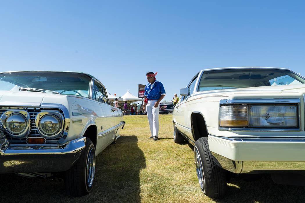 Alberto Santamaria, 15, checks out the classic cars at the El Tiempo Fiesta Las Vegas at Craig Ranch Regional Park in North Las Vegas, Saturday, Sept. 15, 2018.(Marcus Villagran/Las Vegas Review-J ...