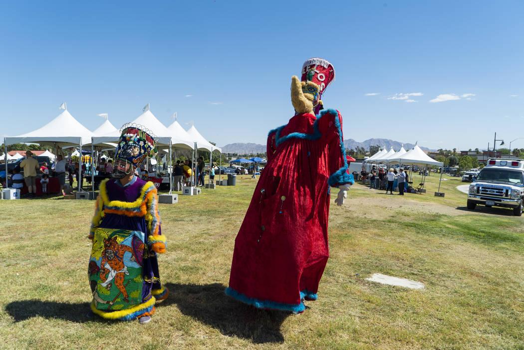 Las Vegas residents celebrate Hispanic Heritage at the El Tiempo Fiesta Las Vegas at Craig Ranch Regional Park in Las Vegas, Saturday, Sept. 15, 2018.(Marcus Villagran/Las Vegas Review-Journal) @m ...