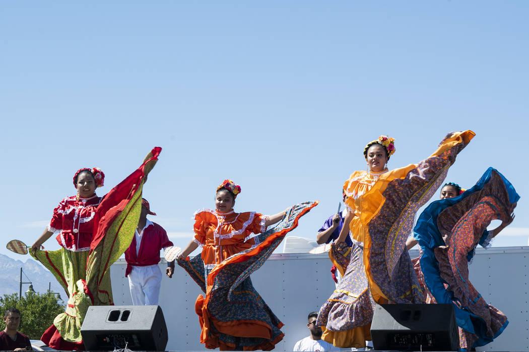 Las Vegas residents celebrate Hispanic Heritage at the El Tiempo Fiesta Las Vegas at Craig Ranch Regional Park in North Las Vegas, Saturday, Sept. 15, 2018.(Marcus Villagran/Las Vegas Review-Journ ...