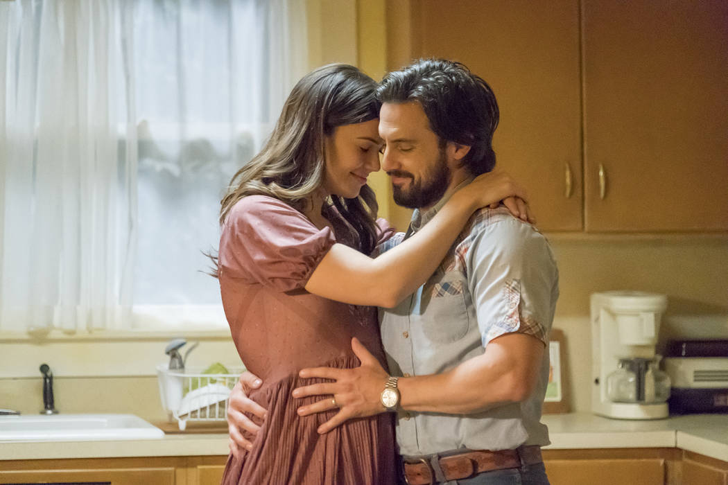 "Mandy Moore as Rebecca, Milo Ventimiglia as Jack in ""This is Us."" (Ron Batzdorff/NBC)"