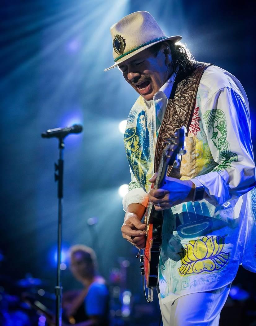 Carlos Santana at House of Blues in Mandalay Bay. (Erik Kabik)