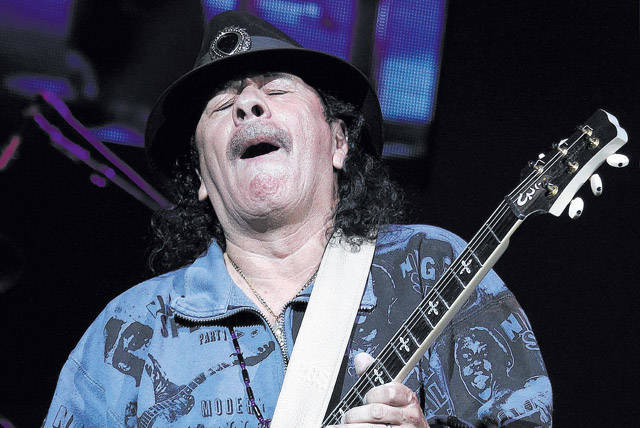 Carlos Santana returned to the House of Blues at Mandalay Bay on Wednesday and plays seven dates through Sept. 23. (Jason Bean/Las Vegas Review-Journal File)