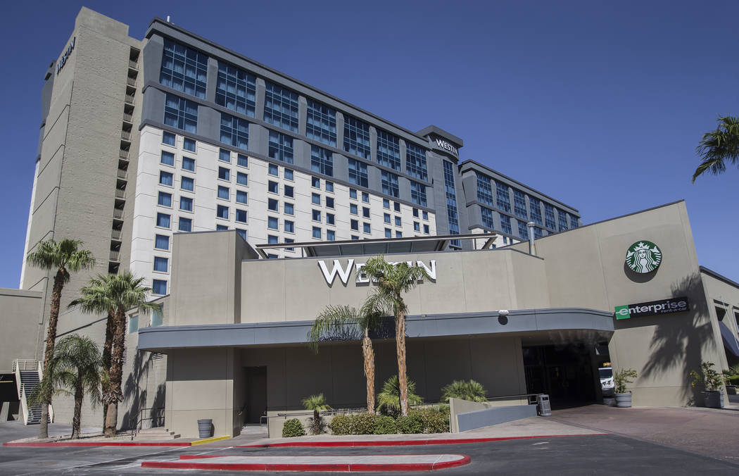 The Westin, at 160 E. Flamingo Road, recently sold for $195 million. Photo taken on Wednesday, Sept. 12, 2018, at the properties Strip location, in Las Vegas. Benjamin Hager Las Vegas Review-Journ ...