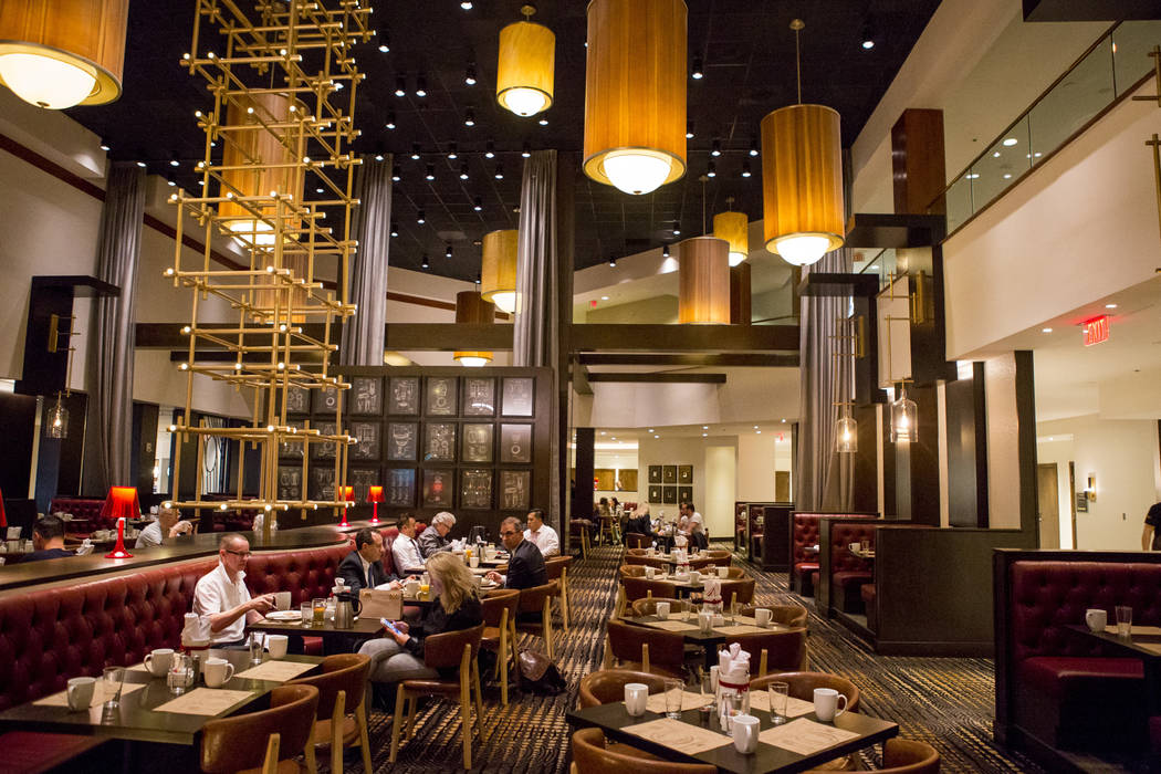 Customers eat breakfast at the new restaurant Jake & Eli, which replaced the casino floor at the Westin Las Vegas, on Wednesday, Feb. 14, 2018. Patrick Connolly Las Vegas Review-Journal @PConnPie