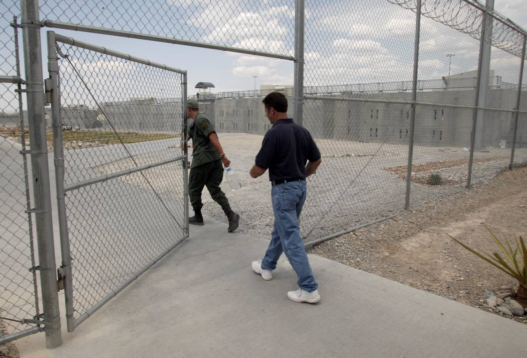 Rick Tabish heads back to his cell in July 2003 at High Desert State Prison near Indian Springs. (File Photo)