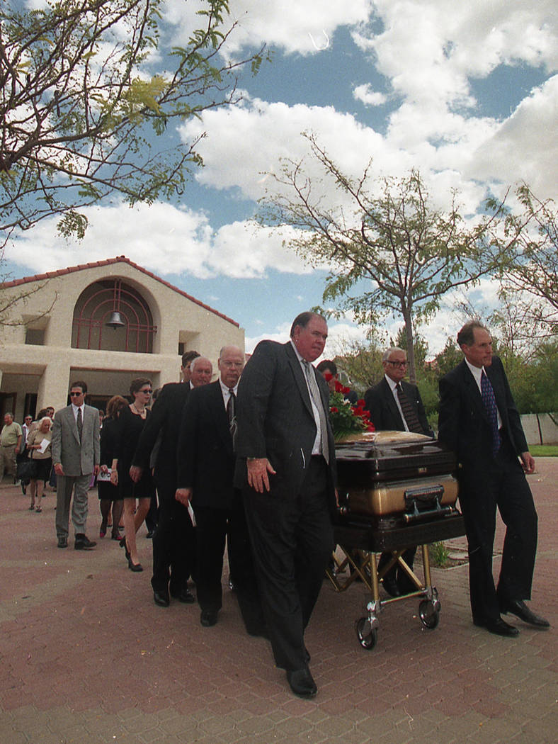 Funeral for Ted Binion in September 1998 at Christ the King Catholic Community in Las Vegas. (File Photo)