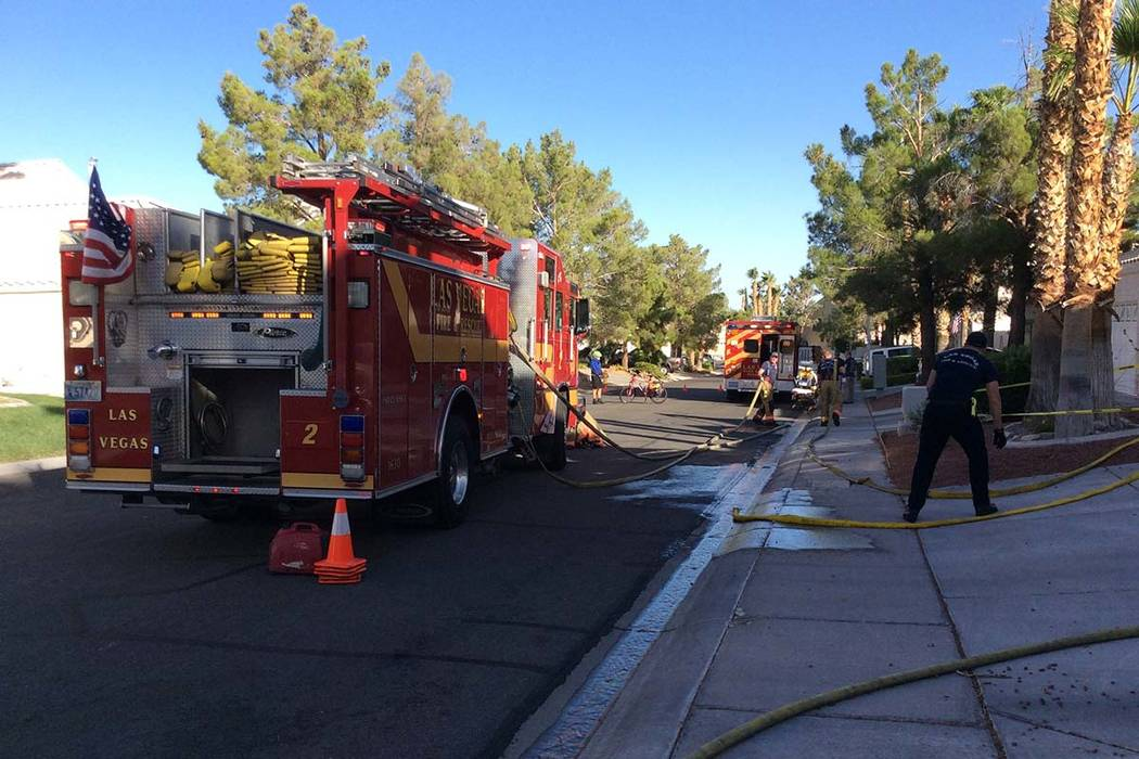 Careless smoking may be to blame for a house fire that left one woman dead in a home on Sienna Ridge Drive, near Fort Apache Road and Charleston Boulevard, in western Las Vegas, Wednesday, Sept. 1 ...